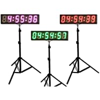 """Eu 5"""" 6 digits 7 Colors LED Countdown Clock Race Timing For Running Events Phones APP With IR Remote"""