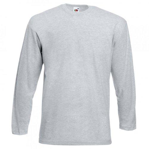 Fruit of the Loom Langarm T-Shirt 61–038–0 Heather Grey