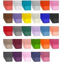 Jersey Baumwolle Spannbetttuch, Spannbettlaken In Vielen Farben Und Allen  Größen Von 90x200 Bis 200