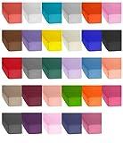Jersey Baumwolle Spannbetttuch, Spannbettlaken in vielen Farben und allen Größen von 90x200 bis 200-220 auch für Wasserbetten und Boxspring sowie Topper Spannbettlaken - Jersey Spannbettlaken 120x200 cm - Natur