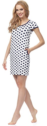 Merry Style Damen Nachthemd MSFX594 Dunkelblau