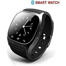 Bluetooth reloj inteligente con micrófono, M26Inteligente Reloj Compatible con Android y ios- Smart muñeca reloj sincronización Teléfono mensaje mate