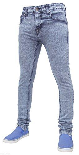 True face, jeans da uomo skinny slim  tf021 - ice blue 32w x 34l