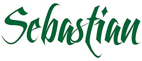 Samunshi® Autoaufkleber Name Aufkleber Wunschname variabel grasgrün