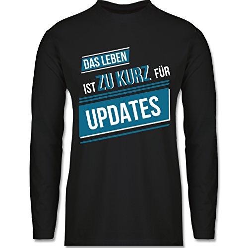 Statement Shirts - Das Leben ist Zu Kurz für Updates - 3XL - Schwarz - BCTU005 - Herren - Oversize-rechner