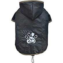 Doggy Dolly DR055 Hunderegenshirt, Größe: S, 2 beinig schwarz