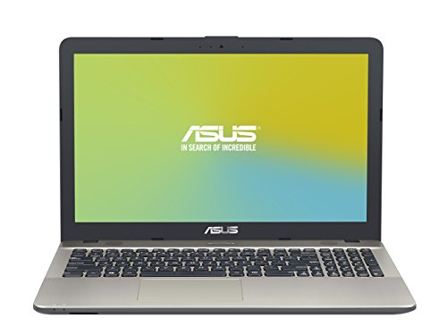 ASUS D541SA-XO271D - Portátil de 15.6'  HD (Intel Celeron N3060 , RAM de 4 GB, 500 GB HDD, Intel HD Graphics 400, sin Sistema Operativo) negro chocolate - Teclado QWERTY Español