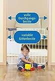 reer Türgitter und Treppengitter Advanced zum Schrauben, stabiler Halt, Durchgangsbreite 75-110cm