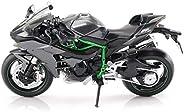 XingKunBMshop Motorcycle Toy Model Kawasaki H2R Road Surface Locomotive Simulation Alloy Motorcycle Model Coll