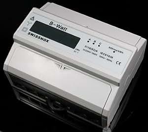100A!!!!! LCD Drehstromzähler Wattmeter Stromzähler Hutschiene Energiezähler Schaltkasten kWh Wattzähler B-Watt