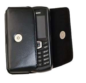 MTT Original Quertasche aus Echtleder mit Gürtelschlaufe für Samsung B2710 schwarz