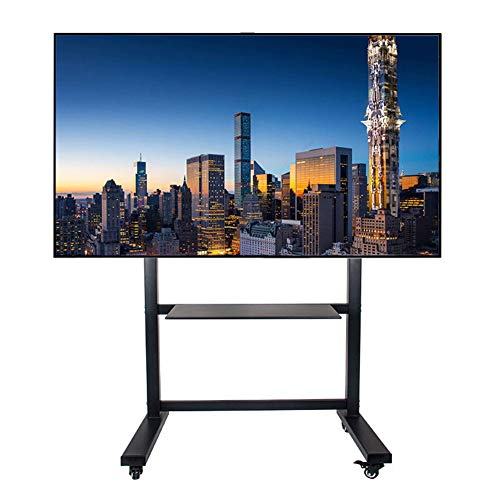 Mobile TV-Stand Trolley Cart 50-100 Zoll Mobile TV Cart LCD LED Plasma Flat Panel Stand Mount Adjustable Height Lockable Wheels Shopping Mall Home Dekoration Flat-panel-mount Stand