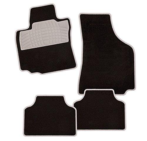 CarFashion 273270 Auto Fussmatten Set ohne Mattenhalter Colori-Textil, Grau, 4-teilig