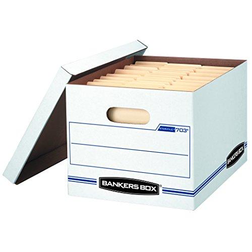 Bankers Box STOR/Datei Aufbewahrungsbox mit Lift-off Deckel, Letter/Legal, 30,5x 25,4x 38,1cm, weiß, 30Stück (0071304) (Datei-boxen Mit Deckel)