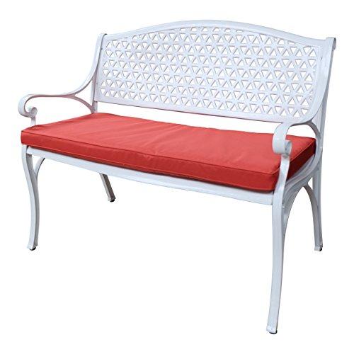 Lazy Susan - JULY Gartenbank aus Aluminium, Weiß (Terracotta Kissen)