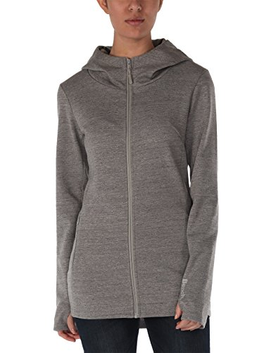 Bench Damen Sweatshirt Kapuzenjacke Tapend grau (Mid Grey Marl) X-Small