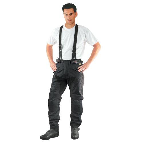 *Roleff Racewear Motorradhose/Trägerhose Textil, Schwarz, Größe XXXL*