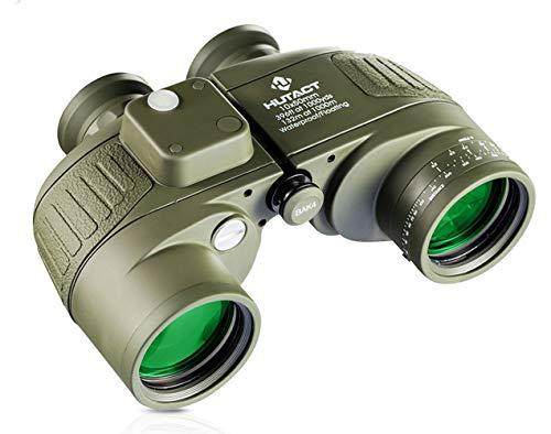 Fernglas hohe Vergrößerung HD 10 * 42 Zoom Teleskop Wandern Schießen Tourismus Low Light Nachtsicht mit Entfernungsmesser Finder Kompass Outdoor Jagd Teleskop