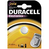 "DURACELL Lot de 2 piles bouton lithium ""Electronics"" CR2016"
