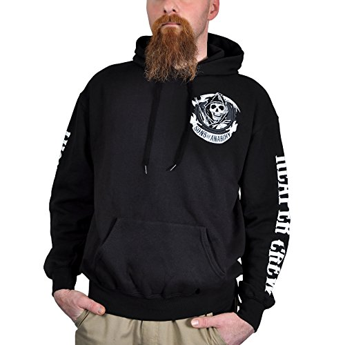 Sons of Anarchy Sweater Men - AMERICAN OUTLAW - Black, Größe:M - American Sweatshirt