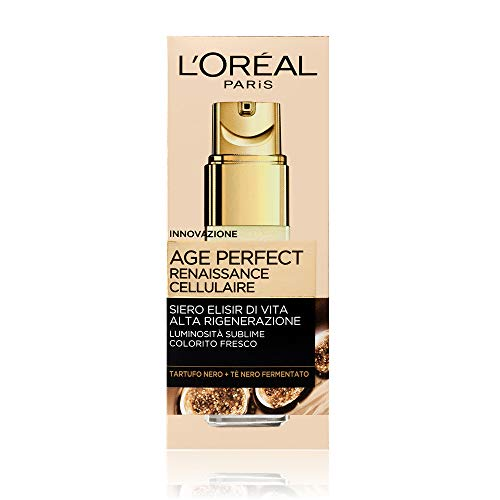 L'Oréal Paris Age Perfect Renaissance Cellulaire Siero Antirughe Illuminante Viso, Pelli Mature, 30 ml