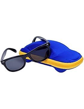 Wayfarer Gafas de Sol Polarizadas para Niño y Niña (2-8 años) QIXU Lentes UV400 Goma Flexible y Caja