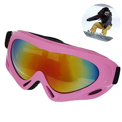 """gafas de esquí snowboard gafas con protección UV al aire libre a prueba de viento lentes de gafas de copo de nieve dama hombres antideslumbrante y Big Boy 7.5""""Ancho-lindo color rosa"""