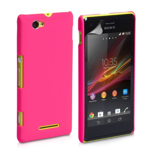 Generic Rubberised Hard Case Back Cover for SONY XPERIA M - PINK  available at amazon for Rs.199