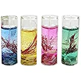 Atorakushon Smokeless Multi Pack Of 4 Mini Tube Gel Glass Tube T-lite Candle Decorative Designer Gel Candles Set For Decoration Candles For All Occasion Living Room Bedroom Wedding Anniversory Bridal Shower Wedding Room Home Decoration Table Decoration, H