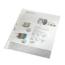 Leitz 47900000 Prospekthülle (A4, Dokumentenechte PP-Folie genarbt, 0, 085 mm) 100 er-Pack, farblos