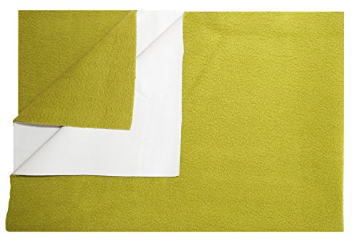 HappyBox Quick Dry Baby Bed Protector Waterproof Sheet Reusable Crib Sheet Cot Mat bassinet Bedding (Small) (70Cm X 50Cm) Golden Green  available at amazon for Rs.155