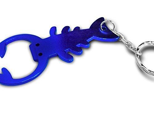 personnalisé gravé / personnalisé Porte-clés avec pochette cadeau - Scorpion ouvre-bouteille - lr123blu2