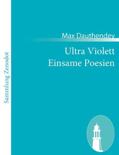 Ultra Violett Einsame Poesien