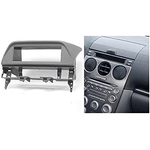 autostereo 11–406–Kit de instalación para radio de coche Mazda 6Atenza 2002–2007gris, radio de coche montaje marco adaptador de radio Fascia Adaptador Mazda 6Marco Embellecedor de