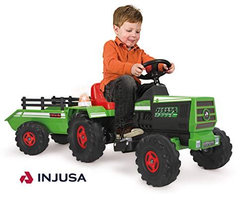 INJUSA Tractor Basic con Remolque con Luces Y Sonidos Color Verde 3+ 615009
