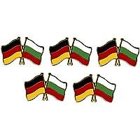 5er Pack Deutschland - Bulgarien Freundschaftspin Yantec Pin Flagge