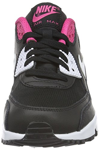 Nike Air Max 90 Mesh (Gs), Gymnastique fille Multicolore (Black/white-vivid Pink)