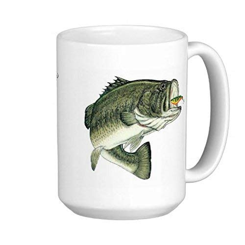 Going Bass Fishing - 11-oz Funny Fisherman Angler Bait Cast Salmon Rod Reel Lures Hook Trout Coffee Mug Cup Made of White Ceramic with Large Handle is Perfect Gift For Dad Mom Grandpa Papa Fathers Day (Cast Reel)