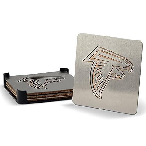 NFL Atlanta Falcons Boasters, Heavy Duty Stainless Steel Coasters, Set