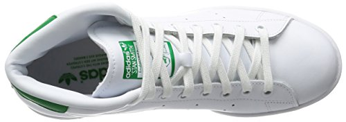 adidas Originals Herren Stan Smith Mid Hohe Schuhe Mehrfarbig (Ftwwht/Ftwwht/Green)