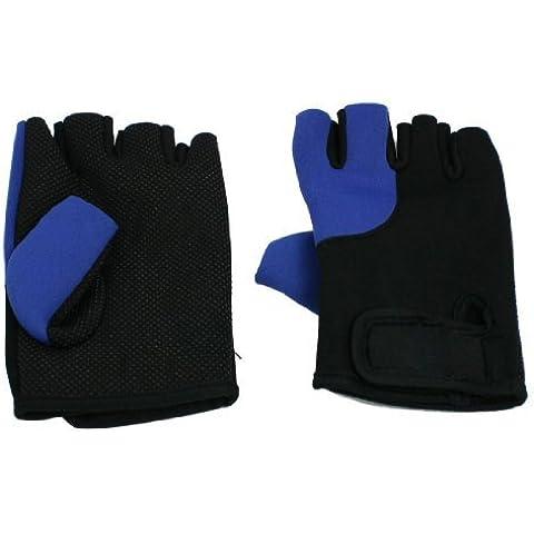 TOOGOO (R) 2 x Guantes Deportivo sin Dedos Neopreno Negro Azul para Hombres