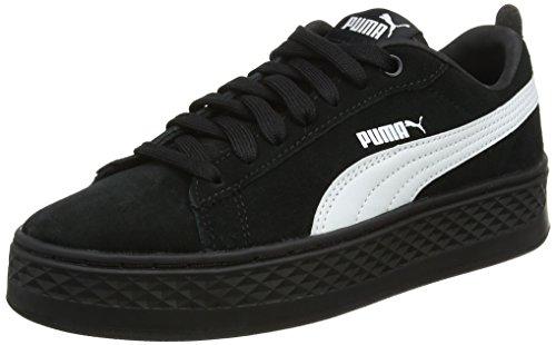 Puma Damen Smash Platform SD Sneaker, Schwarz (Puma Black-Puma White 02), 38.5 EU (Mädchen Puma Schuhe Größe 3)