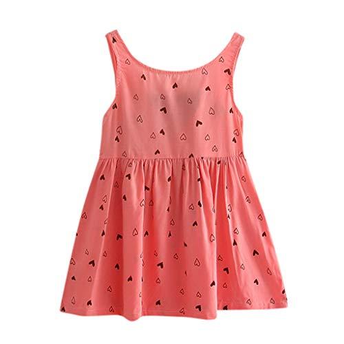 POPLY Nettes T-Shirt Blusenkleid Kleinkind Baby Mädchen Süß Kinder Bowknot Floral Ärmellos Lässige Princess Dress Clothing