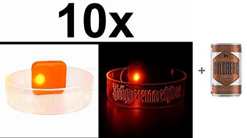 Jägermeister Party Armband beleuchtet Aktion - 10 Stück