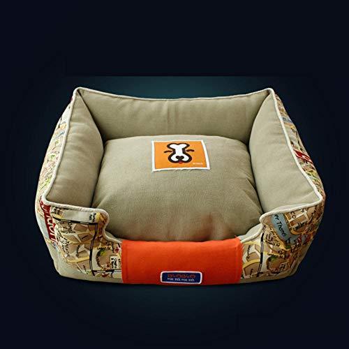 yhwygg Hundebett Kunststoff Reise Katzen Zwinger Hundebett Nette Modische Warme Winter Ser Hundehaus Käfig Chien Pet Schaukel Mascota Puppy Crate70Z1301 @ Beige_S -
