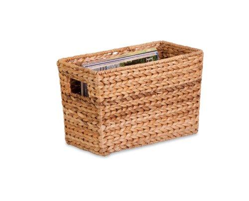 Honey-Can-Do STO-02883 Magazine Banana Leaf Basket , 15.5 L x 5.3W x 10 H