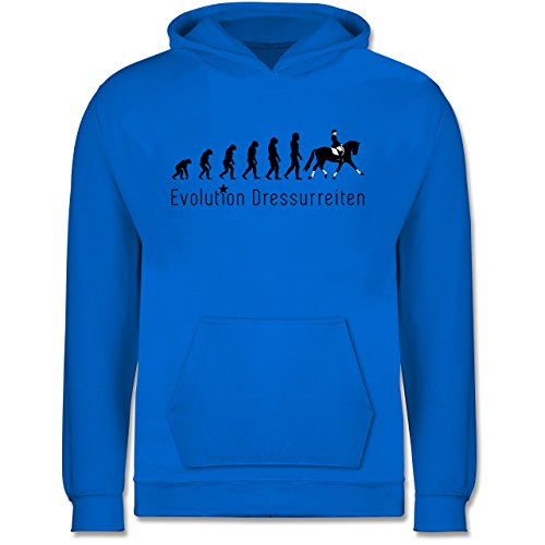 Shirtracer Evolution Kind - Dressurreiten Evolution - 12-13 Jahre (152) - Himmelblau - JH001K - Kinder Hoodie
