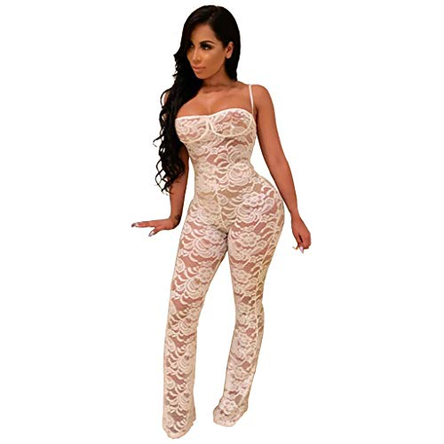 r Spitze Playsuit Bodycon Party Jumpsuit Strampler Hosen ()