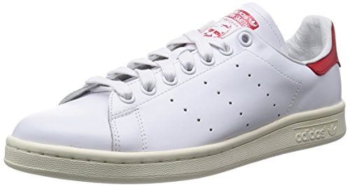 Adidas Stan Smith, Calzado Deportivo Para Hombre Ftwwht-ftwwht-red