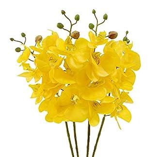 jarown 4pcs 30«Phalaenopsis orquídeas ramas artificiales Real Touch látex flores para oficina en casa decoración de la boda, melamina, Purple Core, 30»